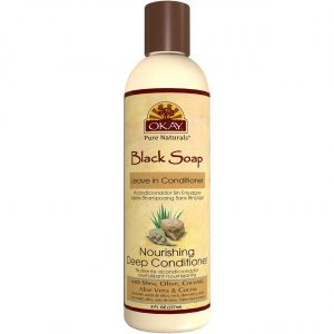 OKAY African Black Soap Leave In Conditioner, 8 Fluid Ounce