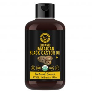 Organic Jamaican black Castor Oil (10.15 fl oz) USDA Certified, Traditional Handmade with Typical and Traditional roasted castor beans smell,100% Pure black Castor Oil (No Additive, No preservative)