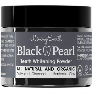 Black Pearl Activated Charcoal Teeth Whitening Toothpaste – Organic Coconut Charcoal – Freshens Breath – Remineralizing Tooth Powder – Anti-Bacterial