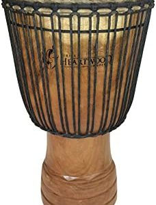 Hand-carved Djembe Drum From Africa – 14″x25″ Oversize with Big Bass (Adi-Daas Carving)